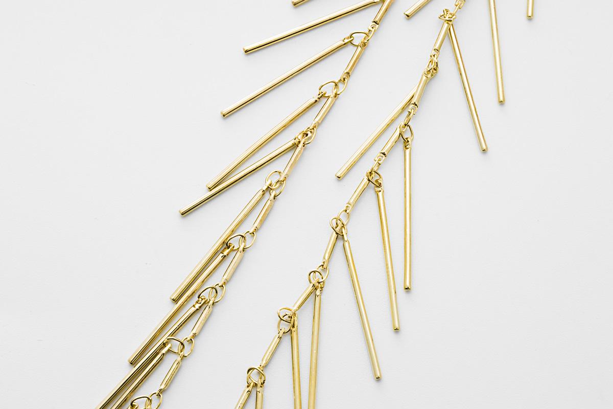 Original rhodium plated brass 1m Jewelry making 15mm long CJ13-10 Handmade chain Stick chain 1.2mm thick Nickel free